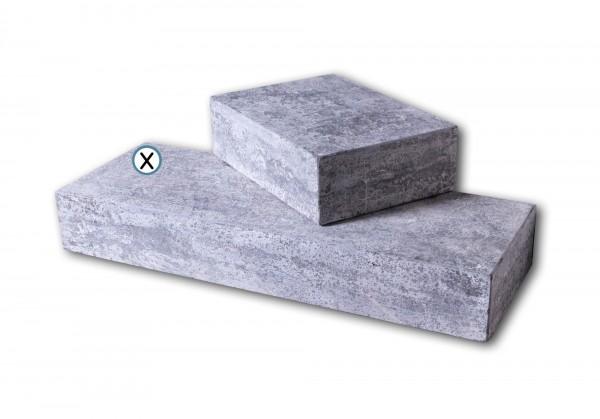 Blockstufe Blaustein grau-anthrazit geflammt & gebürstet 35 x 100 cm
