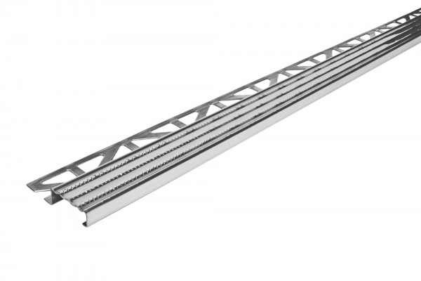 Treppenkantenprofil Dural 11 mm Edelstahl natur DISTOE 250 cm