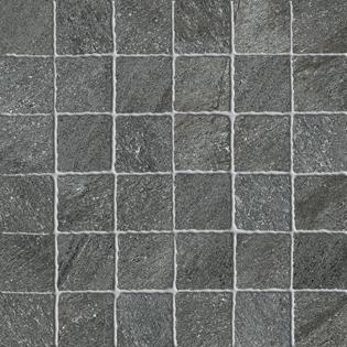 Mosaikfliese Ermes Aurelia Quartz Stone black 30 x 30 cm