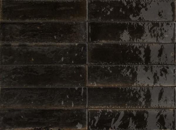 Wandfliese Marazzi Lume black 6 x 24 cm