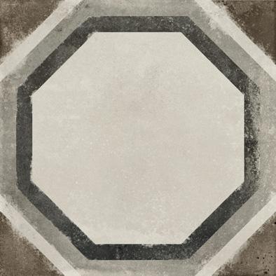 Bodenfliese Ermes Aurelia Vintage Decoro Ottagono 20 x 20 cm
