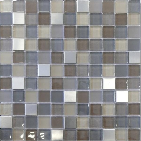 Mosaikfliese Fino braun grau mix 30 x 30 cm