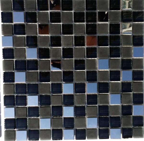 Mosaikfliese Luna schwarz mix 30 x 30 cm