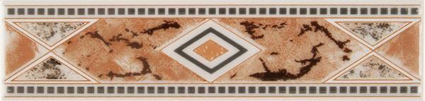 Bordürenfliese Meissen Malta Raute beige 6 x 25 cm