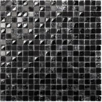 Mosaikfliese Scassato schwarz mix 30 x 30 cm