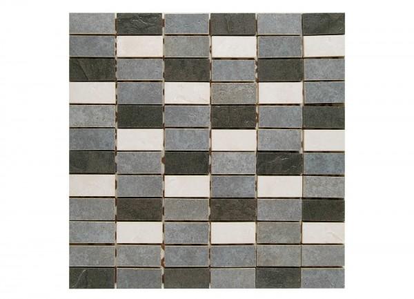 Mosaikfliese Kesme grey 29,5 x 29,5 cm