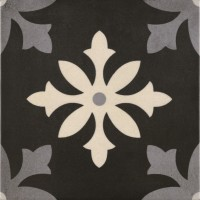 Bodenfliese Pamesa Arte Degas negro 22,3 x 22,3 cm