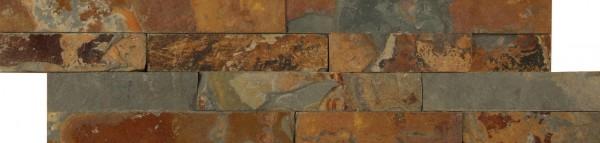 Steinverblender Brickstone Slate multicolor 15 x 55 cm
