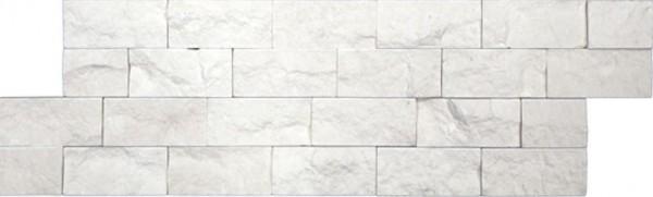 Wandfliese Brickstone Desierto white 15 x 45 cm