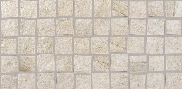 Mosaikfliese Marazzi Multiquartz Mosaico white 30 x 60 cm