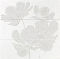 Dekorfliese Ascot Lumen white petal 75 x 75 cm