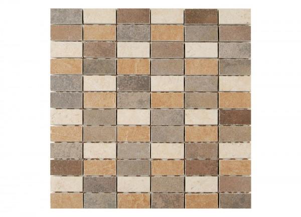 Mosaikfliese Kesme beige 30 x 30 cm