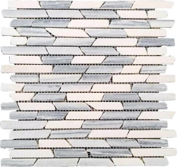 Mosaikfliese Vein grey 30 x 30 cm