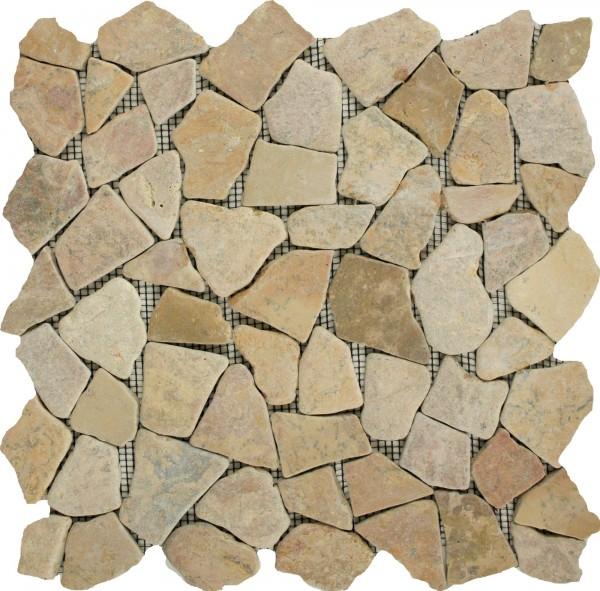 Mosaikfliese Bruch Rosso 28 x 28 cm