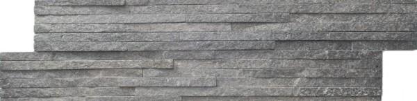 Wandfliese Brickstone noble mini-rods grey 15 x 55 cm