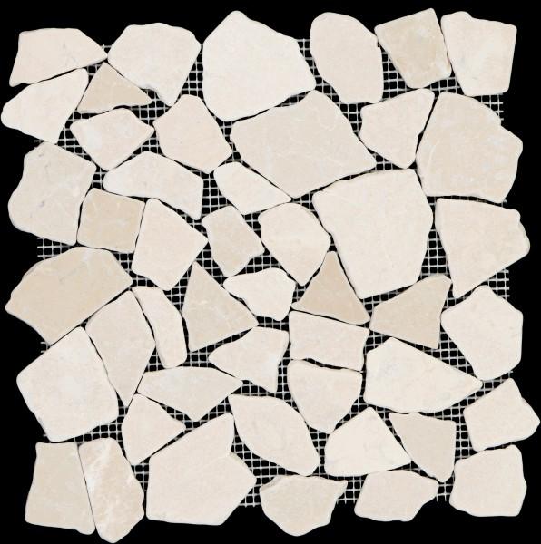 Mosaikfliese Collexion Bruch cream 30 x 30 cm