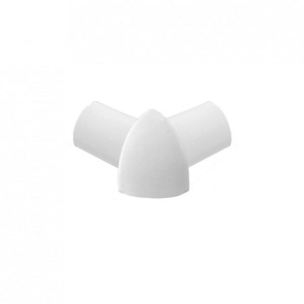 Eckstück Dural 10 mm PVC weiß glänzend DBP930-S-Y