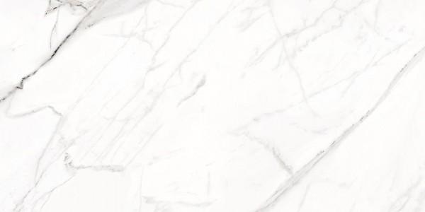 Bodenfliese Enmon Slim Calacata poliert 50 x 100 cm