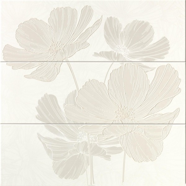 Dekorfliese Ascot Lumen ivory petal 75 x 75 cm