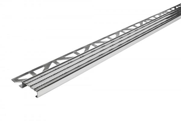 Treppenkantenprofil Dural 9 mm Edelstahl natur DISTOE 9 250 cm