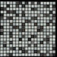Mosaikfliese Astro silber schwarz mix 30 x 30 cm