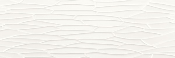 Dekorfliese Baldocer View Neve Satin weiß matt 40 x 120 cm