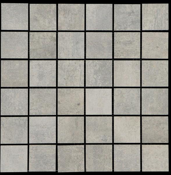 Mosaikfliese Bitumen grau 30 x 30 cm