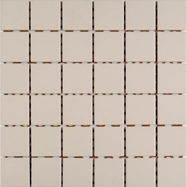 Mosaikfliese Uni ivory 30 x 30 cm