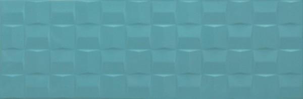 Wandfliese Marazzi Pottery turquoise cube 3D 25 x 76 cm