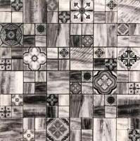 Mosaikfliese Trend Seven Schwarz 30 x 30 cm