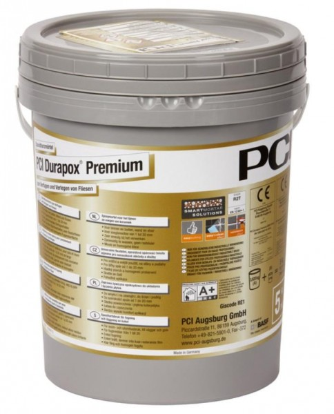 Fugenmörtel PCI Durapox Premium silbergrau 5 kg