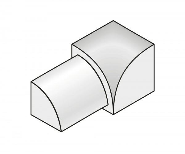 Innenecke Dural 8 mm Alu eloxiert RO 851-C