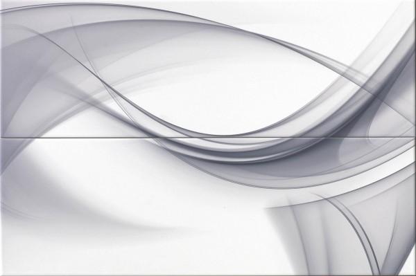 Dekorfliese Ascot Lumen white abstract 50 x 75 cm