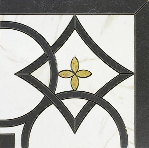 Bordürenfliese Marazzi Evolutionmarble calacatta nero 29 x 29 cm