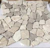 Mosaikfliese Bruch Travertine-Mix PEB-05 29 x 29 cm