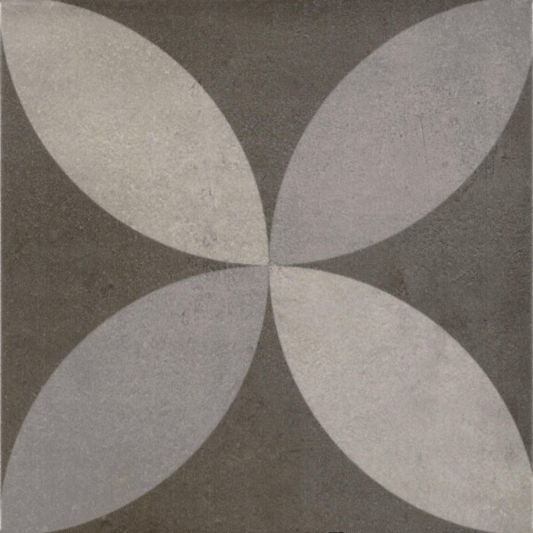 Bodenfliese Pamesa Arte Lepic grau-schwarz 22,3 x 22,3 cm