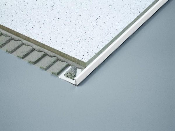 Winkelprofil Dural 8 mm PVC weiß DSP830 250 cm