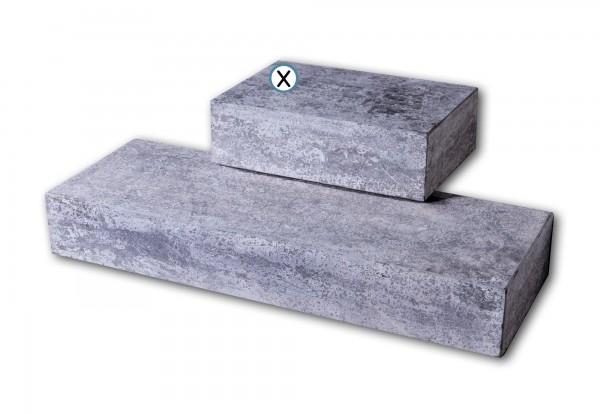 Blockstufe Blaustein grau-anthrazit 35 x 50 cm