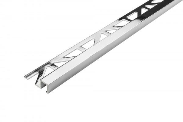 Quadratprofil Dural 9 mm Alu chrom silber LAC 953 250 cm