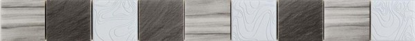 Bordürenfliese Moai grau 5 x 50 cm