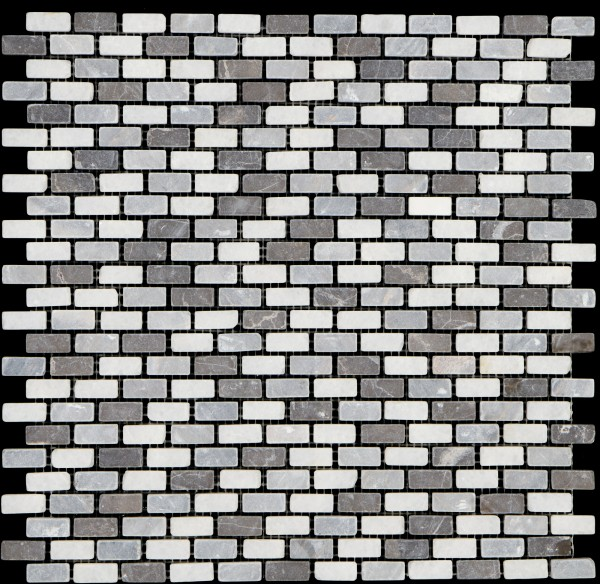 Mosaikfliese Brick azul bardiglio carrara 30 x 30 cm