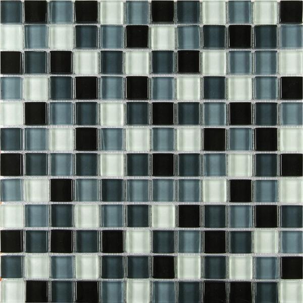 Mosaikfliese Mischung schwarz 30 x 30 cm