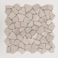 Mosaikfliese Bruch biancone 28 x 28 cm