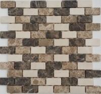 Mosaikfliese Java Mix beige 30 x 30 cm