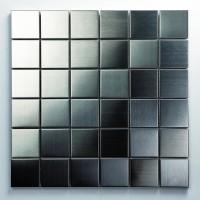 Mosaikfliese Metall silber 4848 30 x 30 cm