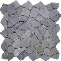 Mosaikfliese Bruch Nero 28 x 28 cm