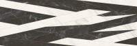 Dekorfliese Baldocer Arkit schwarz-weiß 40 x 120 cm