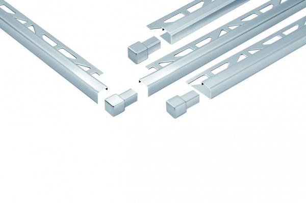 Quadratprofil Dural 11 mm Edelstahl Feinschliff DPSE110-FS 300 cm