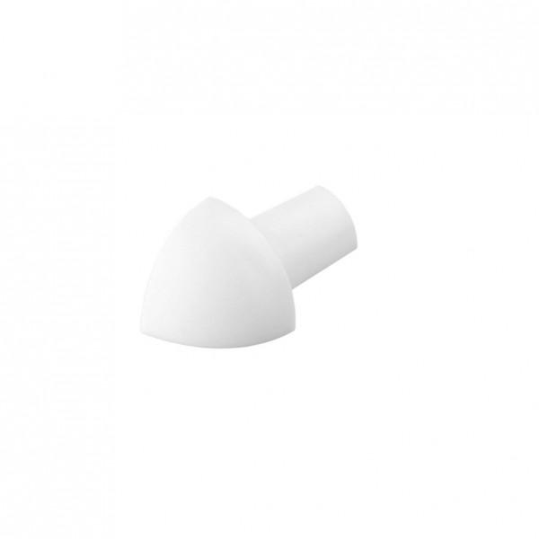 Eckstück Dural 8 mm PVC weiß ROG 801-B