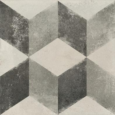 Bodenfliese Ermes Aurelia Vintage Decoro Cubo 20 x 20 cm